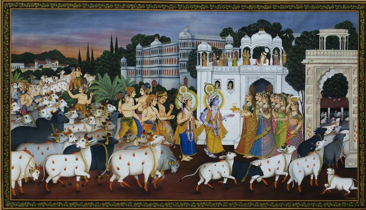 Traditional Painting by J R Sharma